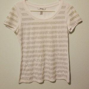 Style and Co shiny rhinestones shirt